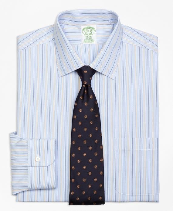 Non-Iron Milano Fit Hairline Alternating Stripe Dress Shirt