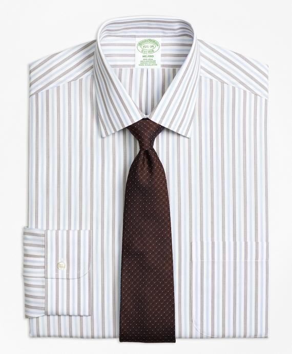 Non-Iron Milano Fit Hairline Framed Stripe Dress Shirt