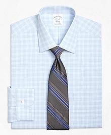 Non-Iron Regent Fit Tonal Glen Plaid Dress Shirt
