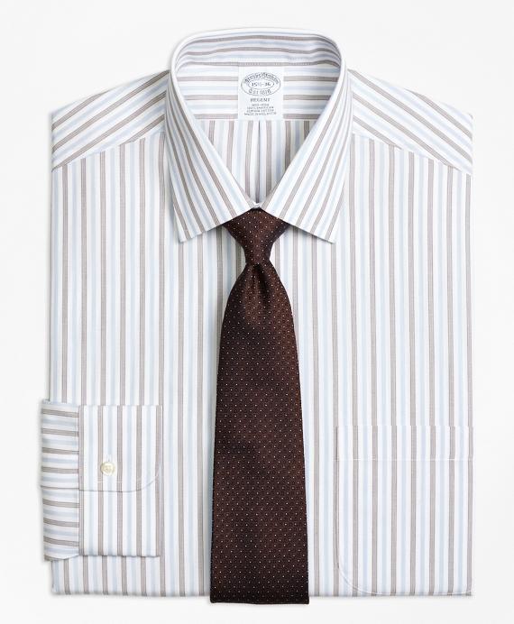Non-Iron Regent Fit Hairline Framed Stripe Dress Shirt