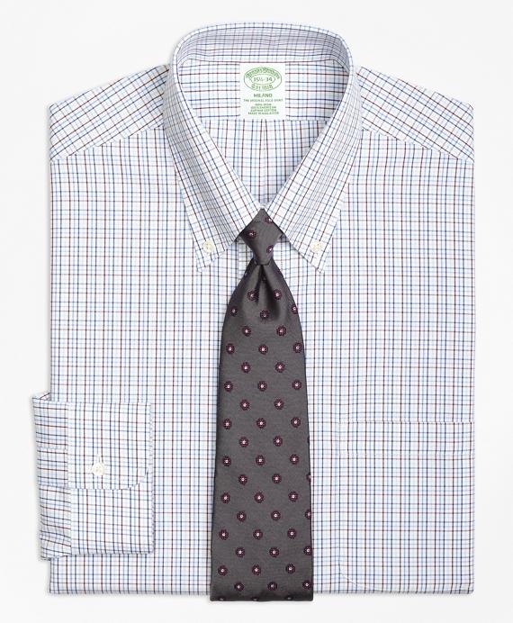 Milano Slim-Fit Dress Shirt, Non-Iron Triple Tattersall
