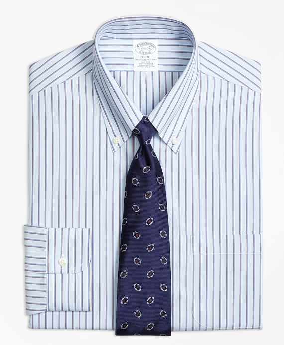 Regent Fitted Dress Shirt, Non-Iron Triple Stripe