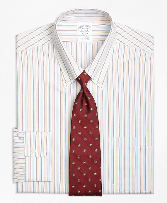 Regent Fitted Dress Shirt, Non-Iron Triple Twin Stripe