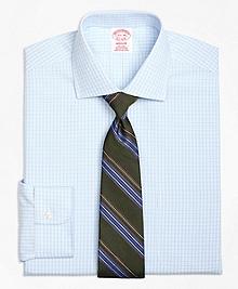 Non-Iron Madison Fit Split Check Dress Shirt