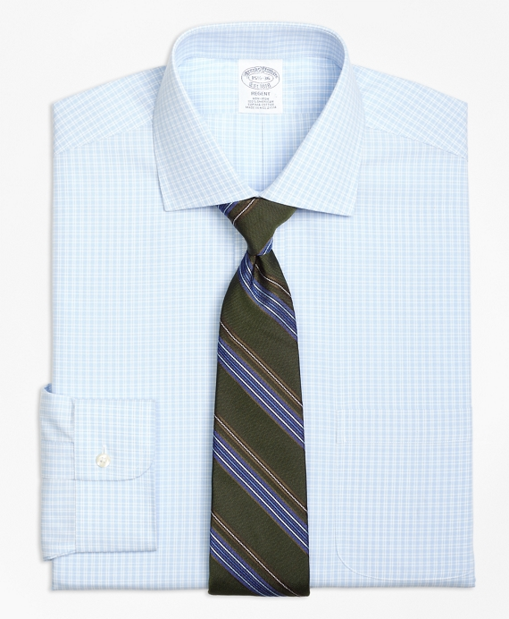 Regent Fitted Dress Shirt, Non-Iron Split Check