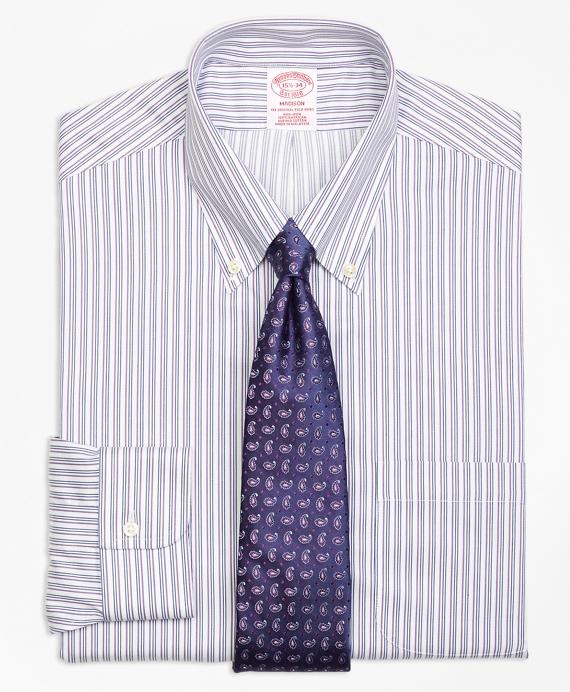Madison Classic-Fit Dress Shirt, Non-Iron Sidewheeler Stripe