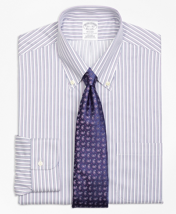 Non-Iron Regent Fit Sidewheeler Stripe Dress Shirt