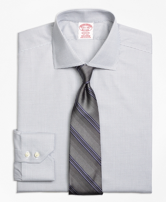 Madison Classic-Fit Dress Shirt, Non-Iron Micro Check