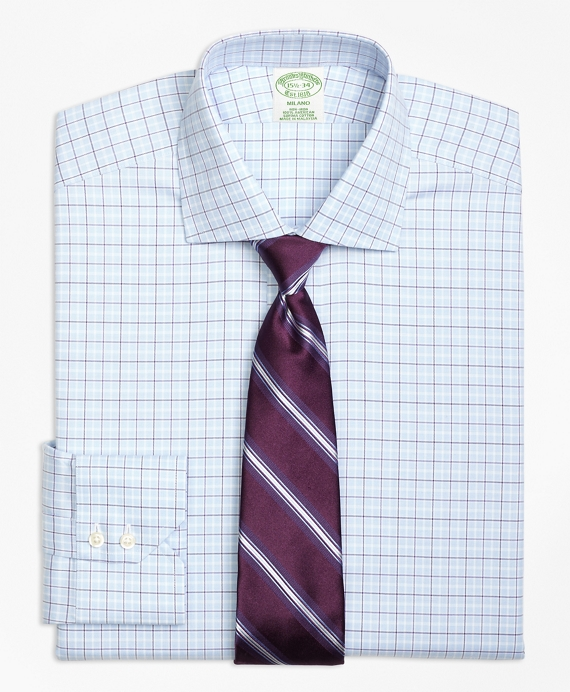 Non-Iron Milano Fit Alternating Tattersall Dress Shirt