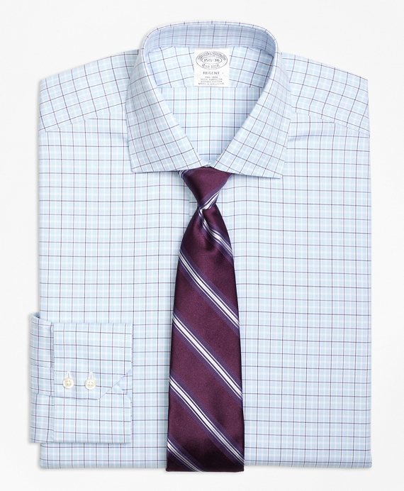 Regent Fitted Dress Shirt, Non-Iron Alternating Tattersall
