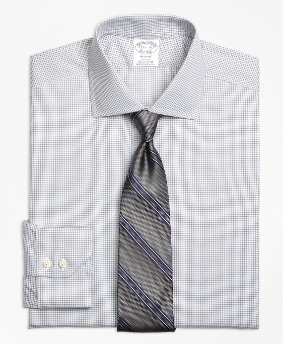Regent Fitted Dress Shirt, Non-Iron Micro Check