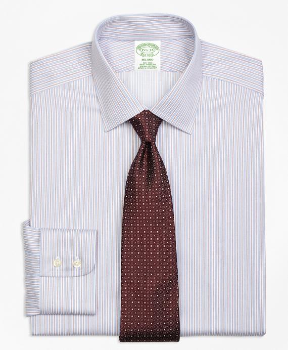 Non-Iron Milano Fit Alternating Split Stripe Dress Shirt