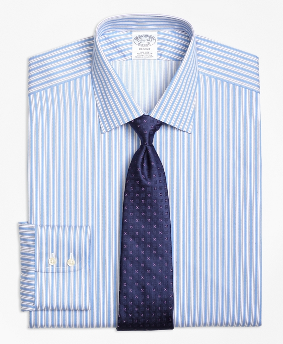 Regent Fitted Dress Shirt, Non-Iron Split Stripe