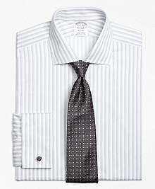 Non-Iron Regent Fit Sidewheeler Stripe French Cuff Dress Shirt