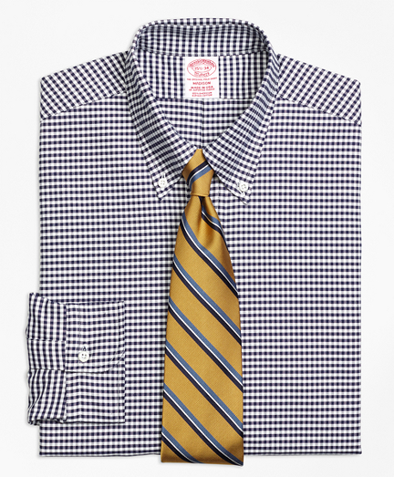 Madison Fit Original Polo® Button-Down Oxford Gingham Dress Shirt
