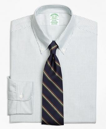 Milano Fit Original Polo® Button-Down Oxford Stripe Dress Shirt