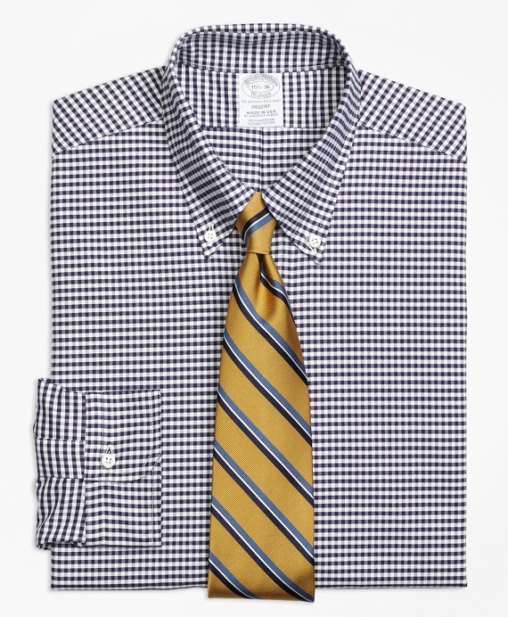 Regent Fit Original Polo® Button-Down Oxford Gingham Dress Shirt Blue