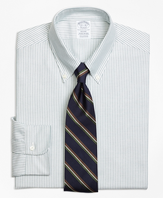 Regent Fit Original Polo® Button-Down Oxford Stripe Dress Shirt