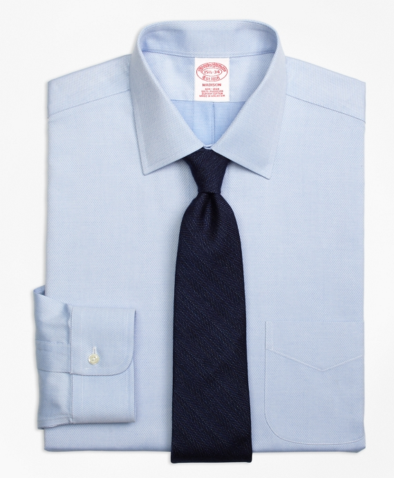 Non-Iron Madison Fit Diamond Dobby Dress Shirt