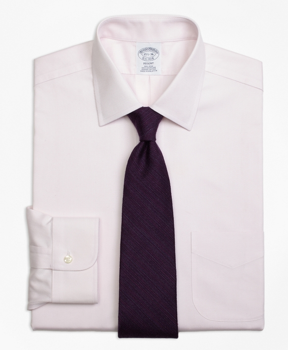 Regent Fitted Dress Shirt, Non-Iron Diamond Dobby Pink