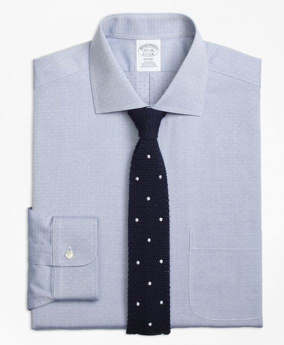 Regent Fitted Dress Shirt, Non-Iron English Collar Dobby