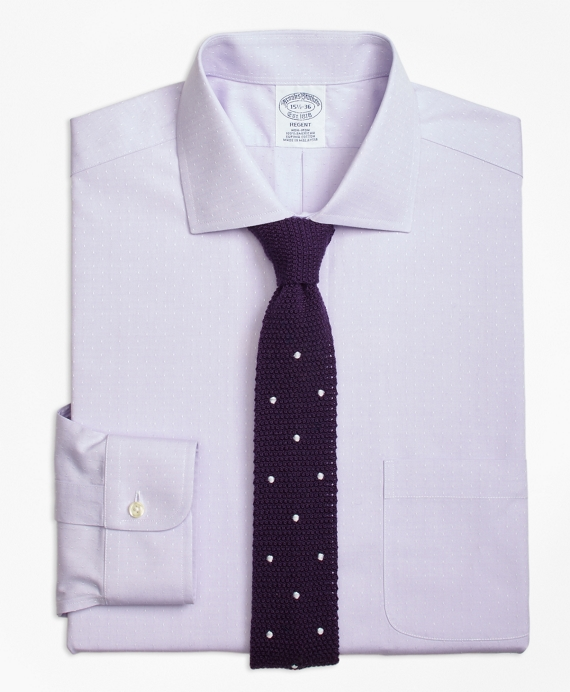 Regent Fitted Dress Shirt, Non-Iron English Collar Dobby Purple