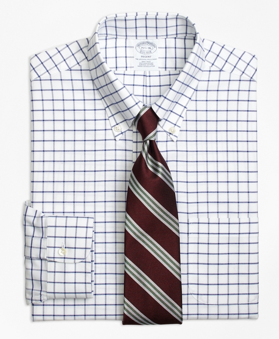 Non-Iron Regent Fit Tattersall Dress Shirt