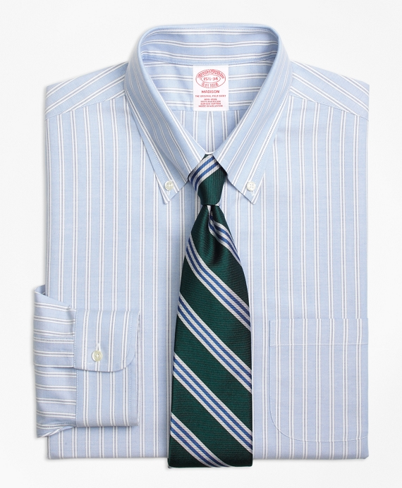 Madison Classic-Fit Dress Shirt, Non-Iron Split Stripe