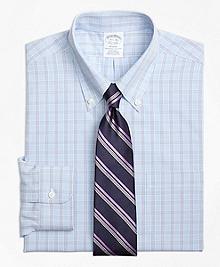 Non-Iron Regent Fit Houndstooth Triple Overcheck Dress Shirt