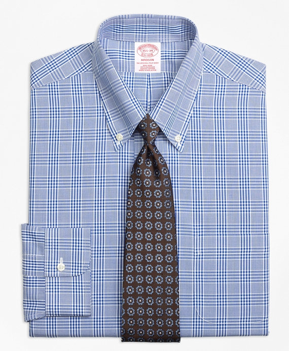 Madison Classic-Fit Dress Shirt, Non-Iron Glen Plaid