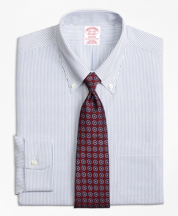 Madison Classic-Fit Dress Shirt, Non-Iron Pinstripe