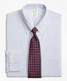 Non-Iron Milano Fit Pinstripe Dress Shirt