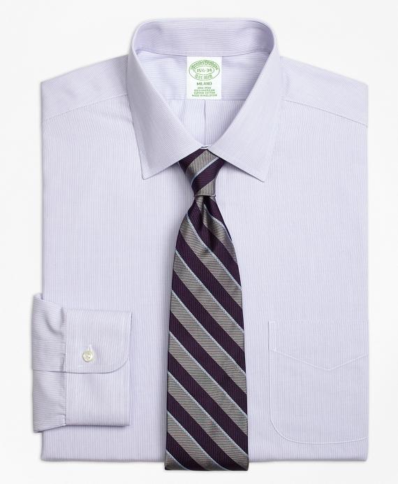 Milano Slim-Fit Dress Shirt, Non-Iron Hairline Stripe