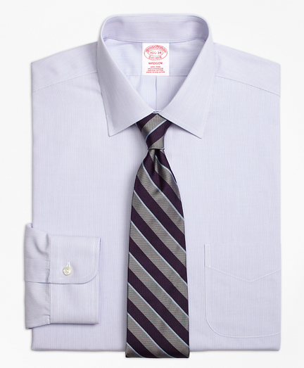 Non-Iron Madison Fit Hairline Stripe Dress Shirt