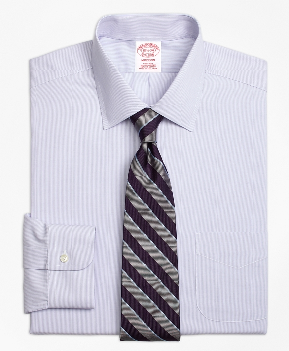 Madison Classic-Fit Dress Shirt, Non-Iron Hairline Stripe