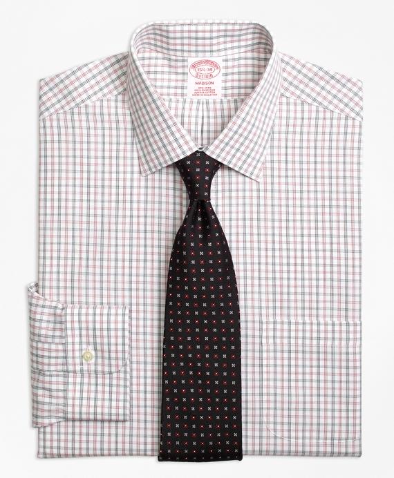 Madison Classic-Fit Dress Shirt, Non-Iron Triple Shadow Check