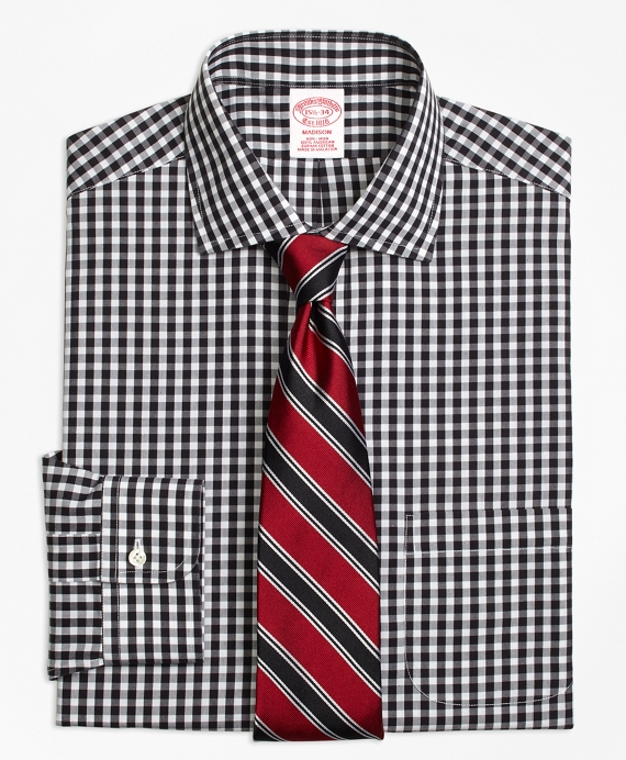 Non-Iron Madison Fit Gingham Dress Shirt