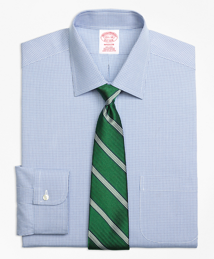 Non-Iron Madison Fit Two-Tone Houndstooth Dress Shirt