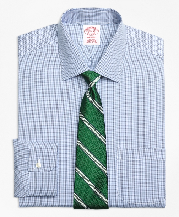 Madison Classic-Fit Dress Shirt, Non-Iron Two-Tone Houndstooth
