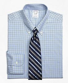 Non-Iron Regent Fit Overcheck Tattersall Dress Shirt