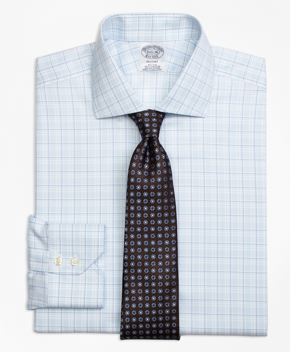 Regent Fitted Dress Shirt, Non-Iron Sidewheeler Check