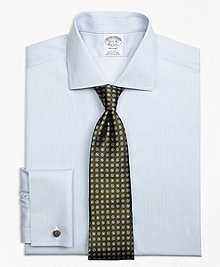 Non-Iron Regent Fit Framed Stripe French Cuff Dress Shirt