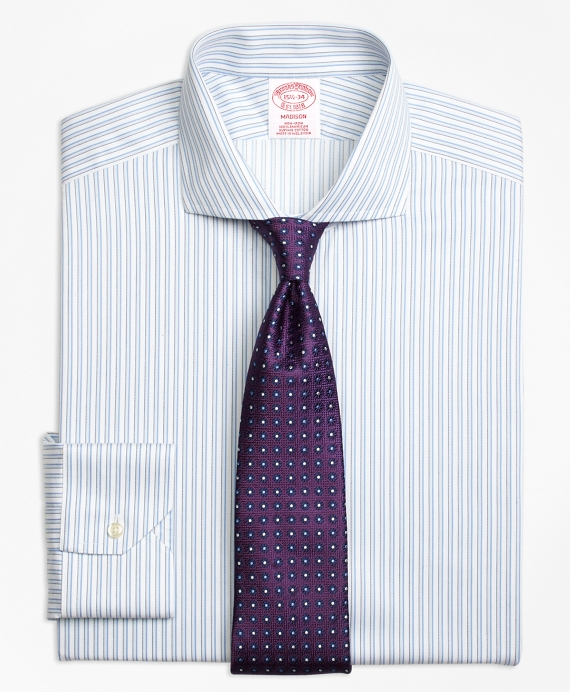 Madison Classic-Fit Dress Shirt, Non-Iron Sidewheeler Stripe