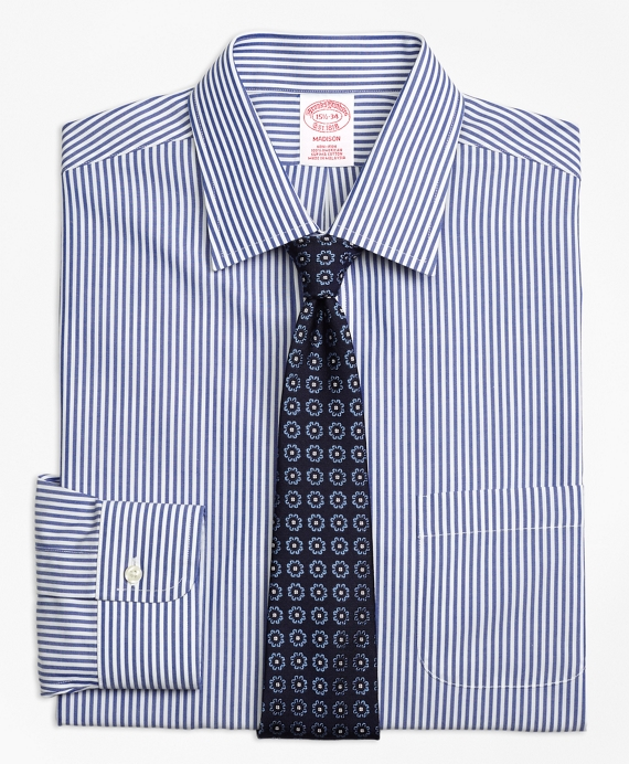 Madison Classic-Fit Dress Shirt, Non-Iron Bengal Stripe