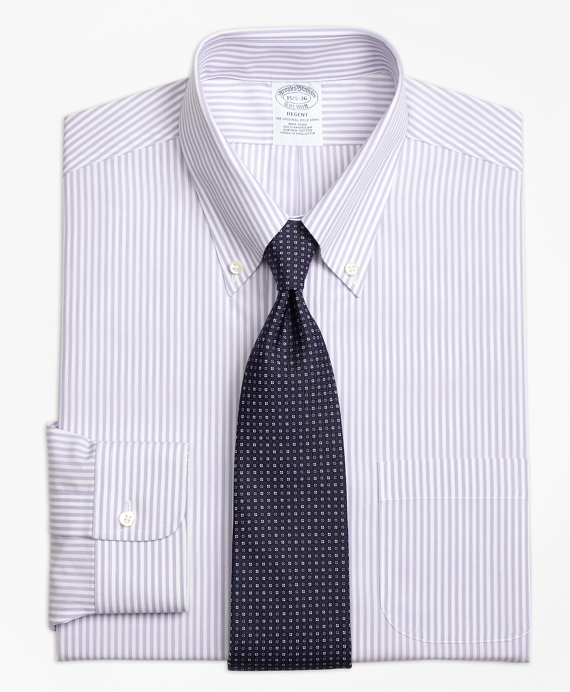 Non-Iron Regent Fit Bengal Stripe Dress Shirt