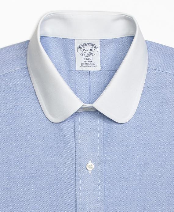 Regent Fitted Dress Shirt Non Iron Contrast Golf Collar