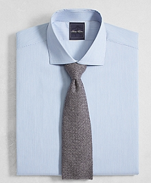 Golden Fleece® Regent Fit English Collar End-on-End Frame Stripe Dress Shirt