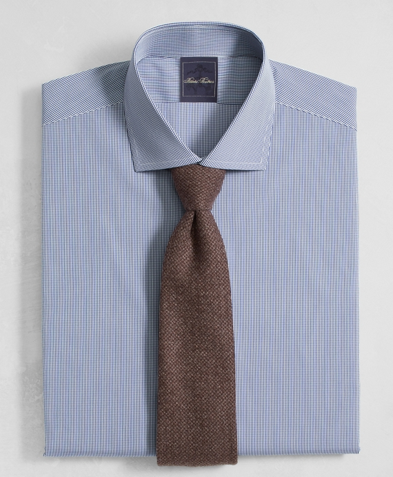 Golden Fleece® Regent Fitted Dress Shirt, English Collar Mini Gingham
