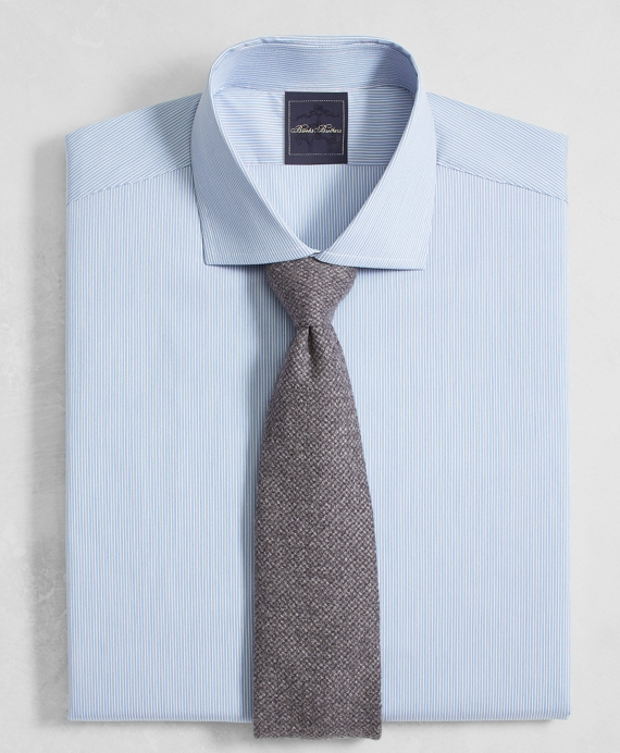 Golden Fleece® Milano Slim-Fit Dress Shirt, English Collar End-on-End Frame Stripe