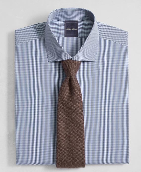 Golden Fleece® Milano Slim-Fit Dress Shirt, English Collar Mini Gingham